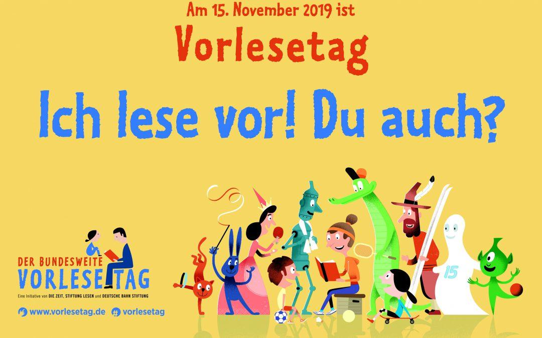 Komm zum Bundesweiten Vorlesetag am 15. November 2019 mit Serge Michel und Chiemgau-Autoren in Traunreut
