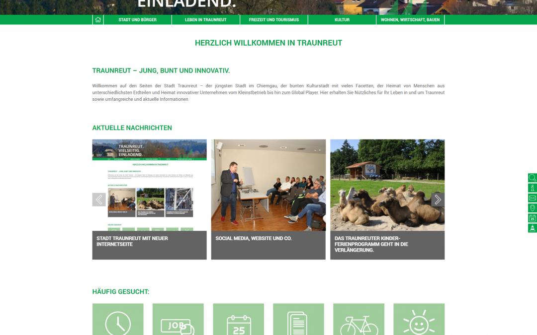 Stadt Traunreut mit neuer Internetseite